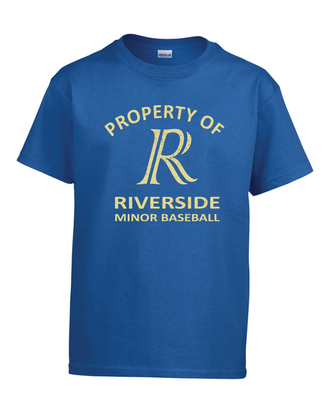 Property of Riverside Minor Baseball Adult Tee