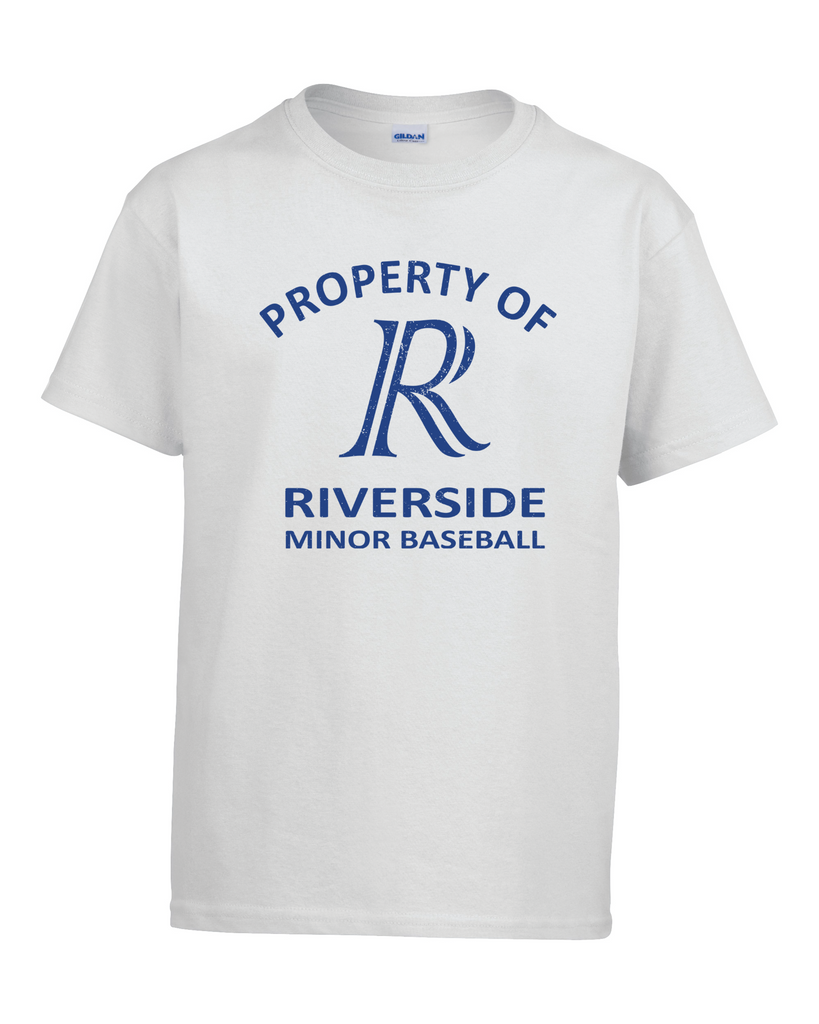 Property of Riverside Minor Baseball Youth Tee