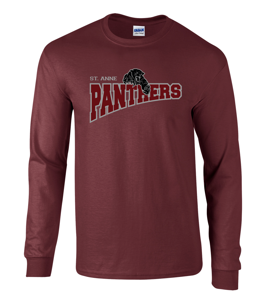 Panthers Adult Cotton Long Sleeve Shirt