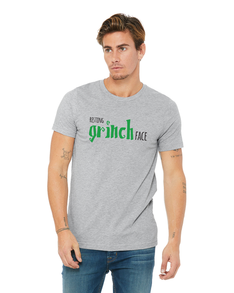 Resting Grinch Face Adult Short-Sleeve T-Shirt