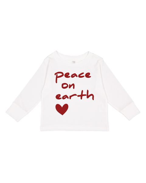Peace On Earth Toddler Long-Sleeve T-Shirt