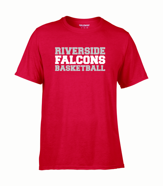 "Falcons Adult ""Basketball"" Performance T-Shirt with Printed logo"