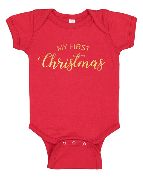 My First Christmas Infant Baby Onsie