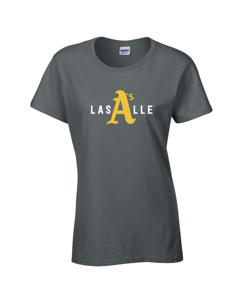 LaSalle Athletics 'LaSalle Big A' Ladies Cotton Tee