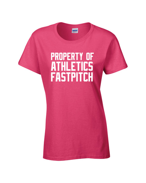 Athletics Ladies 'Property Of' Cotton Tee