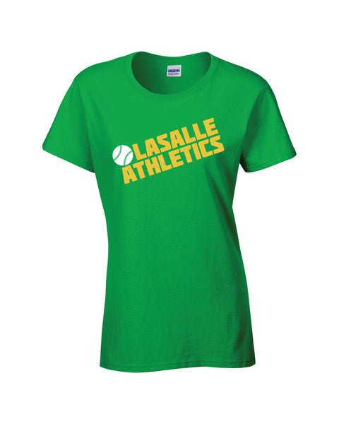 LaSalle Athletics 'Block Slant' Ladies Cotton Tee