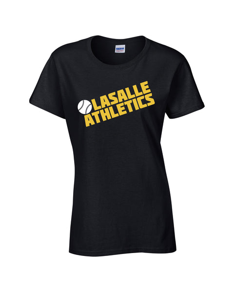 Athletics Ladies 'Block Slant' Cotton Tee