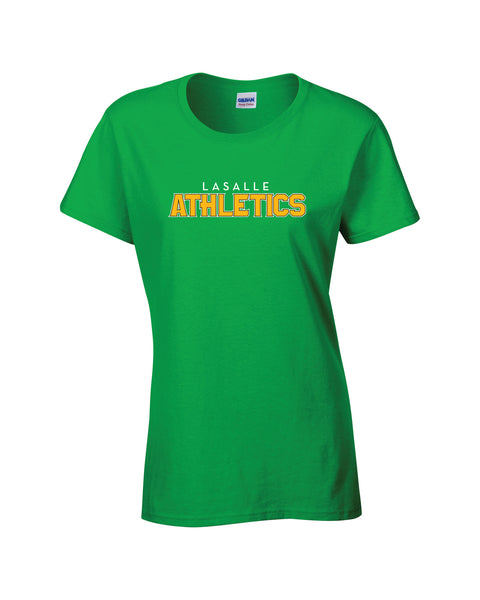 LaSalle Athletics 'Outline Block' Ladies Cotton Tee
