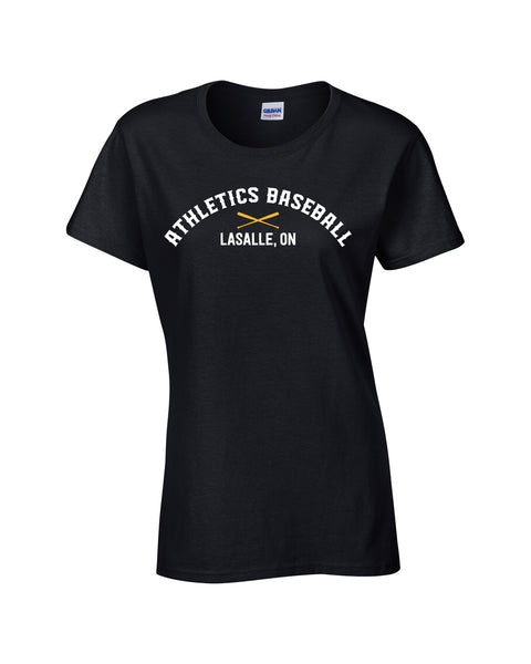 LaSalle Athletics 'Dugout Logo' Ladies Cotton Tee