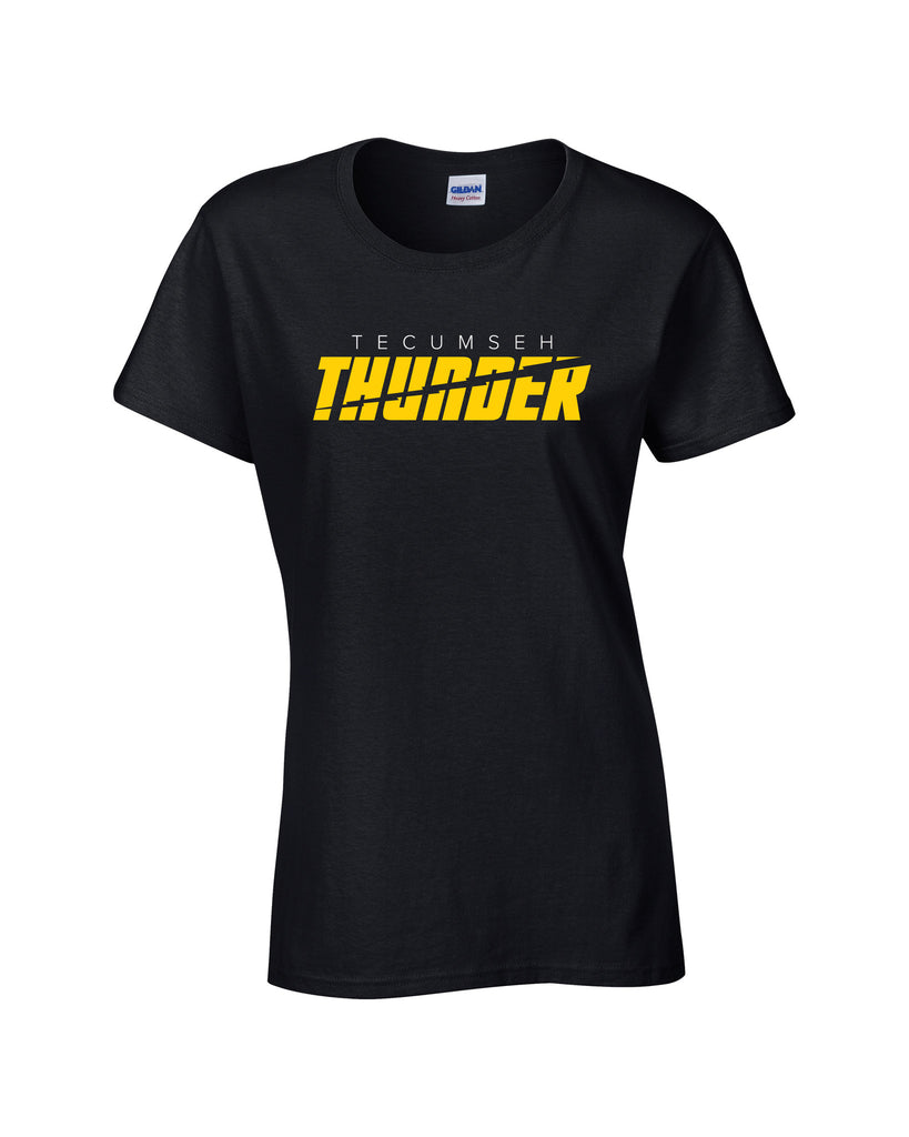 Tecumseh Thunder 'Bolt Cut' Ladies Cotton Tee
