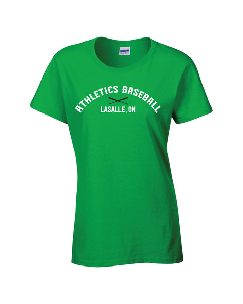 Athletics Ladies 'Dugout Logo' Cotton Tee