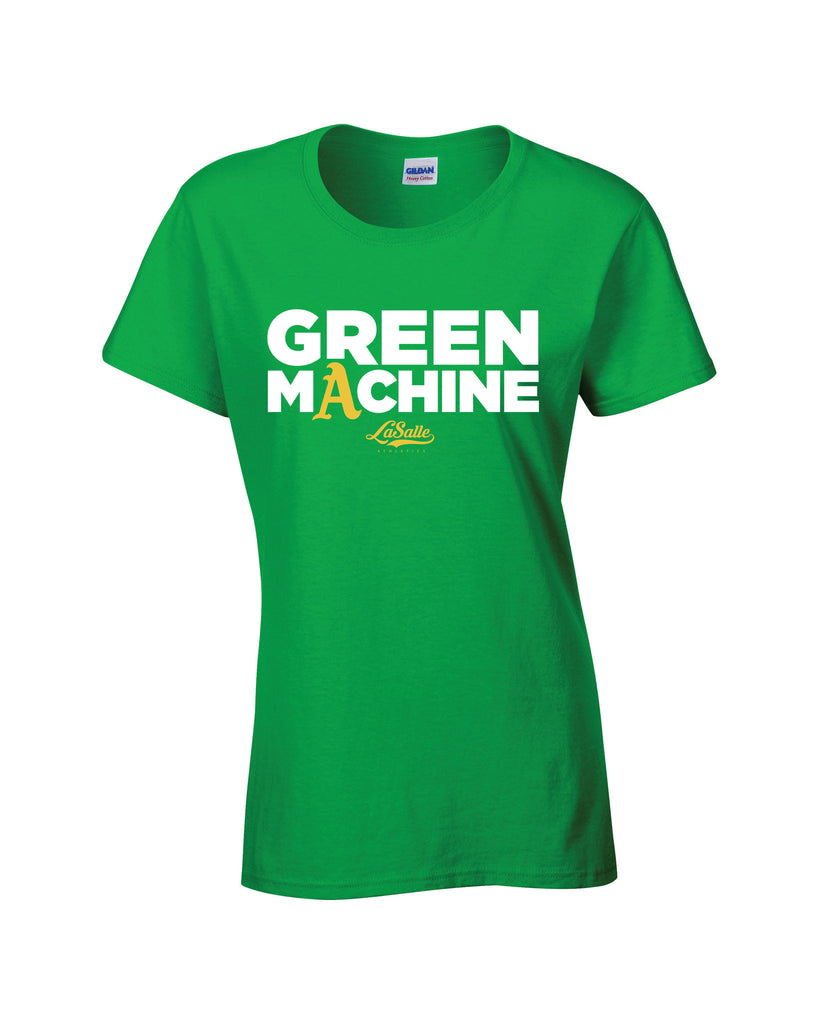 LaSalle Athletics 'Green Machine' Ladies Cotton Tee