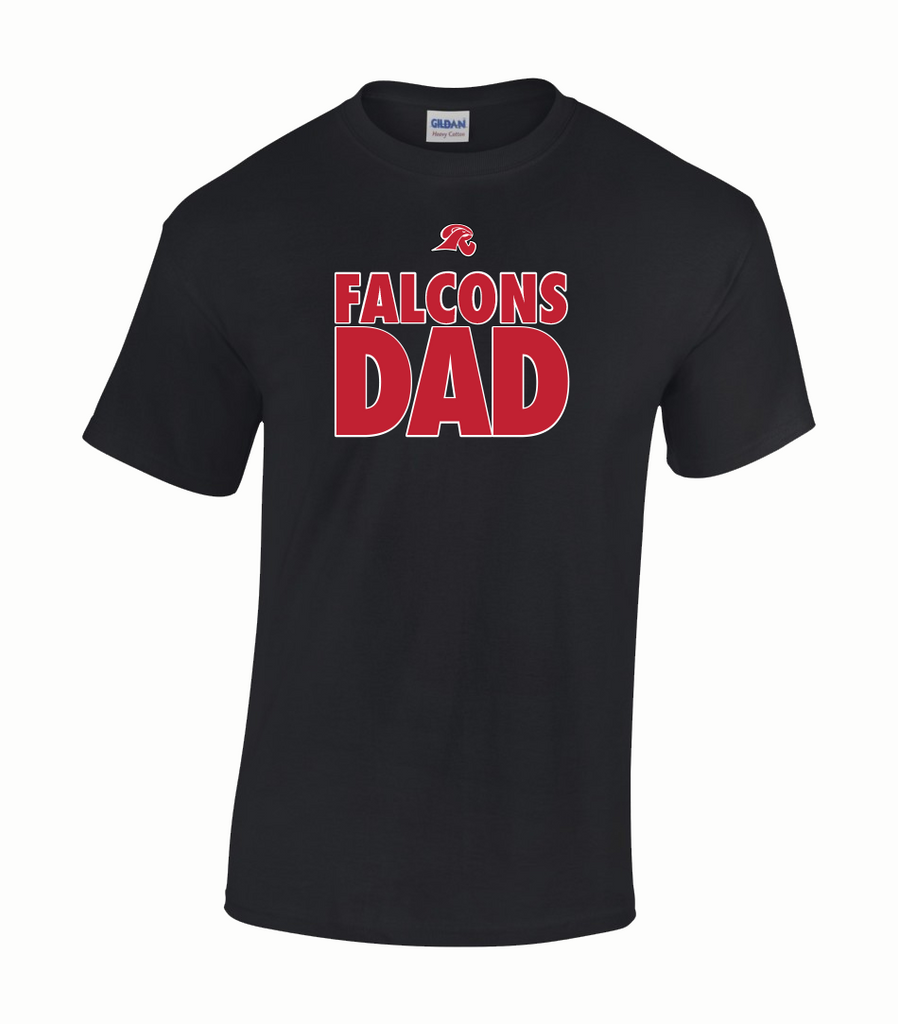 """Falcons Dad"" Adult Cotton T-Shirt with Printed logo"