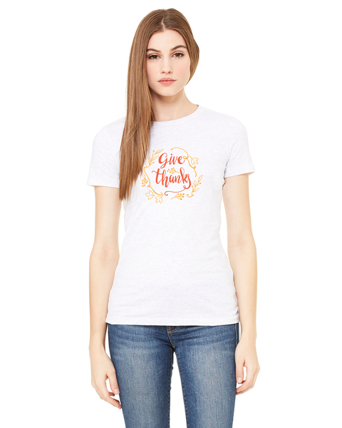 Give Thanks Ladies Short / Long-Sleeve T-Shirt