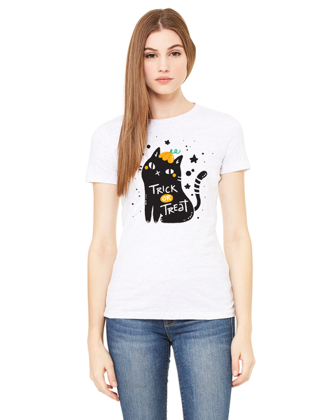 Trick or Treat Cat Ladies Short / Long-Sleeve T-Shirt