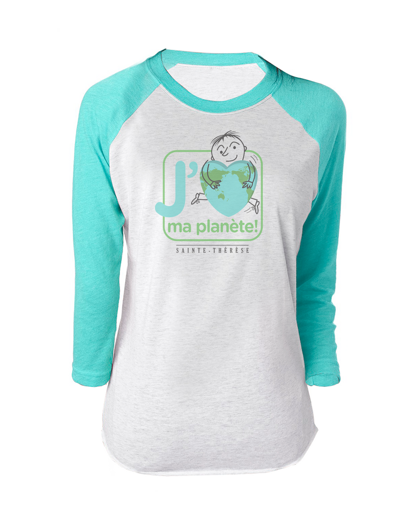 Pantheres Ladies Love Planet Baseball T-Shirt with Printed Logo