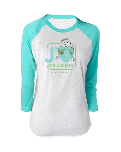 Pantheres Adult Love Planet Baseball T-Shirt with Printed Logo