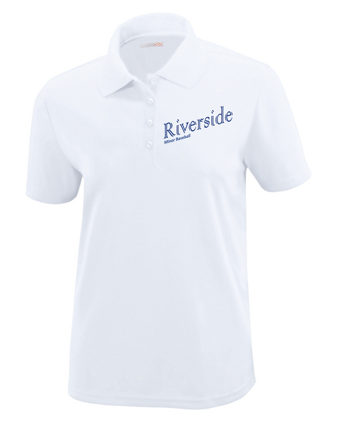 Riverside Minor Baseball Title Logo Ladies Polo