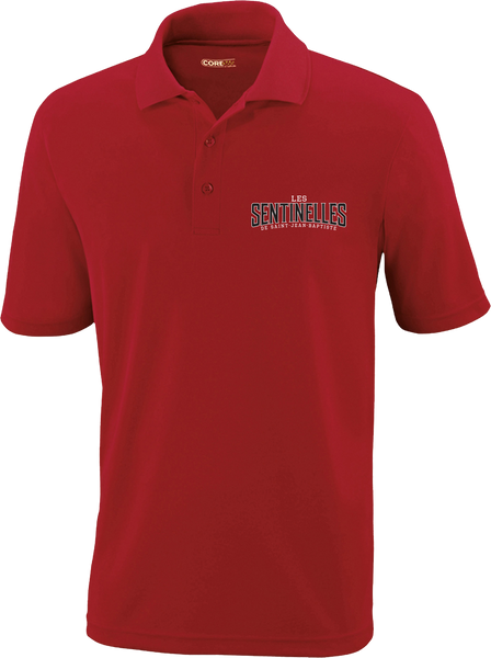 Sentinelles Mens Piqué Polo with Embroidered Logo