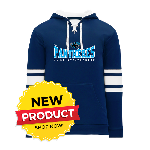 Pantheres Lace Hoodie with Embroidered Applique logo
