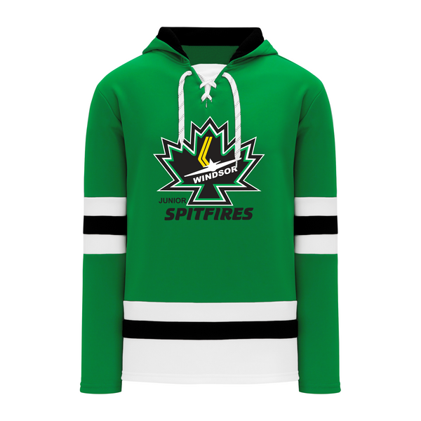 Minor Hockey Adult Stripe Lace Hoodie with Embroidered Applique logo