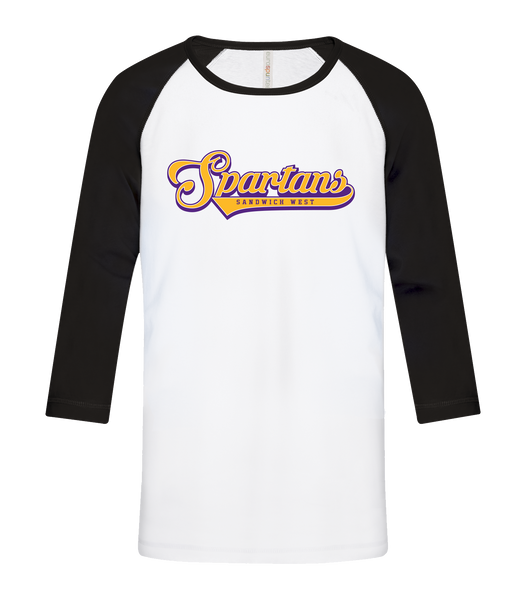 Spartans Youth Cotton Baseball Tee