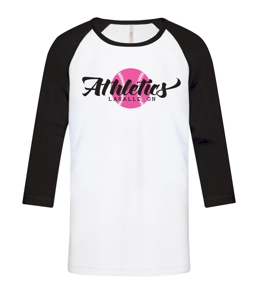 LaSalle Athletics 'Vintage Logo' Adult Baseball Tee
