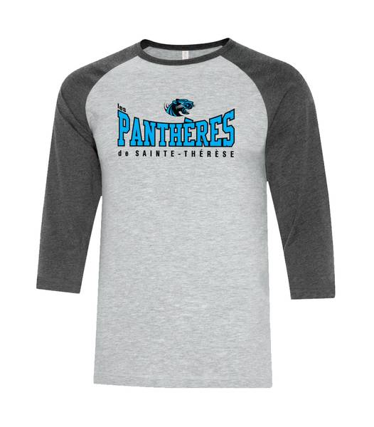 Pantheres Youth Two Toned Baseball T-Shirt with Printed Logo