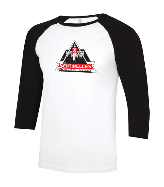 Sentinelles Adult Two Toned Baseball T-Shirt with Printed Logo