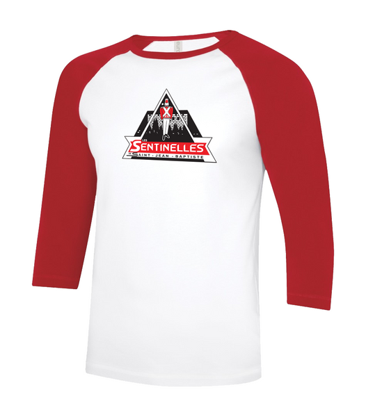 Sentinelles Youth Two Toned Baseball T-Shirt with Printed Logo