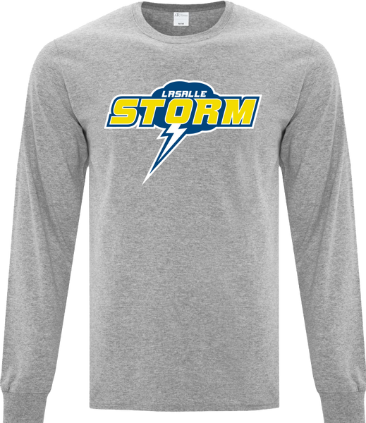 Storm Cotton Long Sleeve with Printed Logo YOUTH