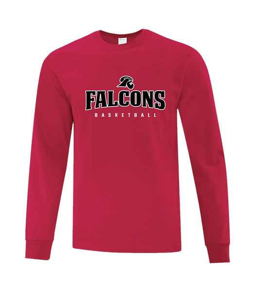 Falcons Adult Dri-Fit Long Sleeve Shooter Tee with Printed logo