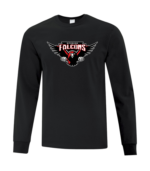 Falcons Adult Cotton Long Sleeve with Printed logo