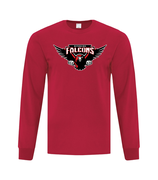 Falcons Youth Cotton Long Sleeve with Printed logo