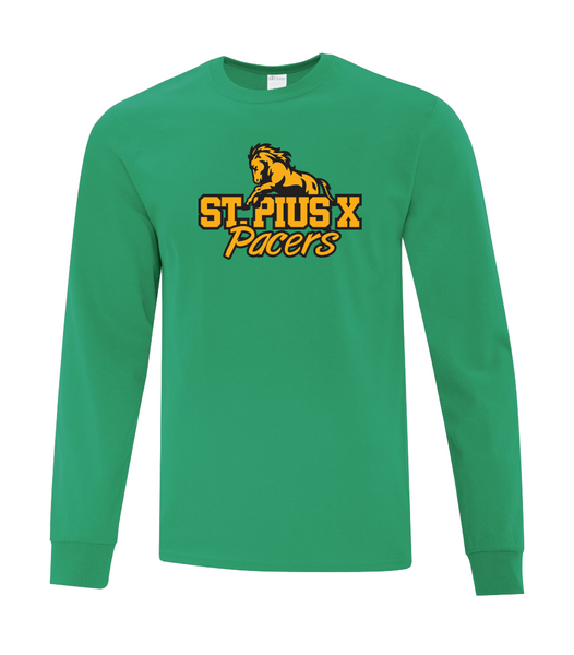 Pacers Adult Cotton Long Sleeve with Printed Logo