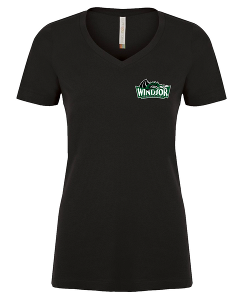 Warlocks Ladies V-Neck Tee with Embroidered Logo