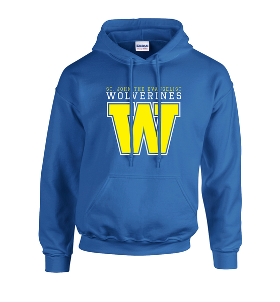 Wolverines Adult Cotton Hooded Sweatshirt with Embroidered Applique Logo & Personalization