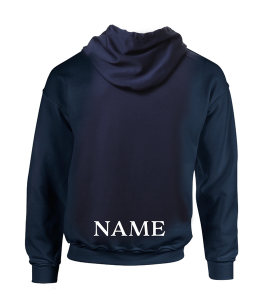 Adult 25th Anniversary Cotton Pull Over Hooded Sweatshirt with Personalized Lower Back