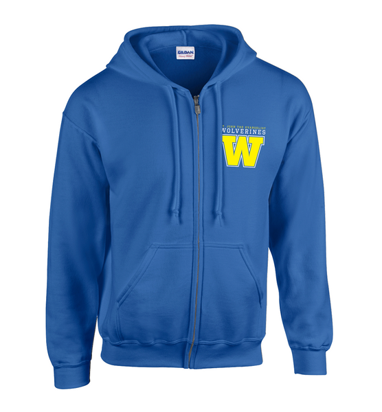 Wolverines Youth Cotton Full Zip Hooded Sweatshirt with Personalization