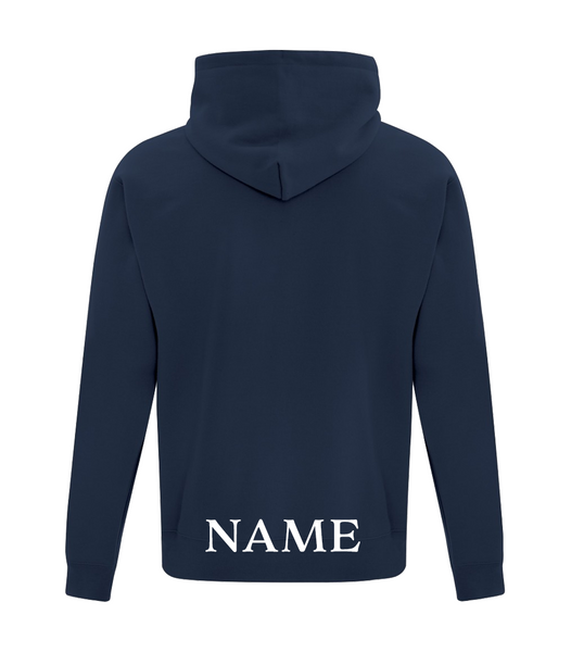 Youth 25th Anniversary Cotton Full Zip Hooded Sweatshirt with Embroidered Logo with Personalized Lower Back
