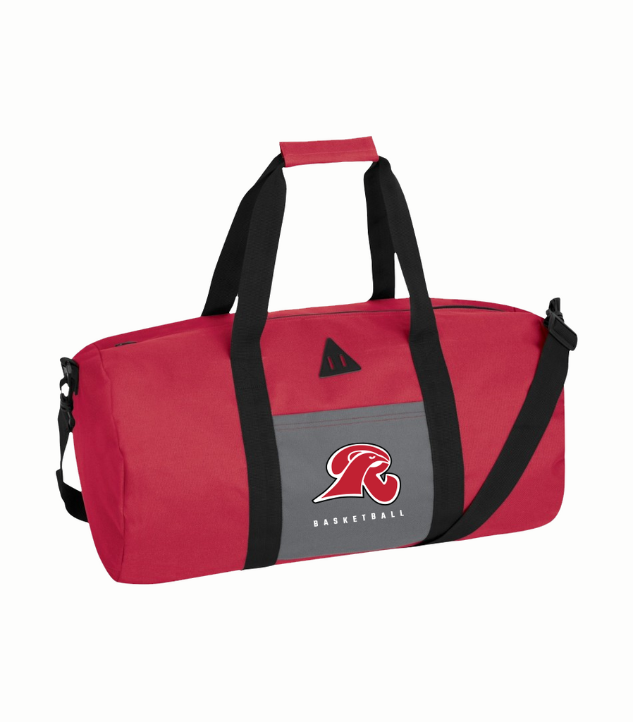 Falcons Barrel Duffel Bag with Embroidered Logo and number