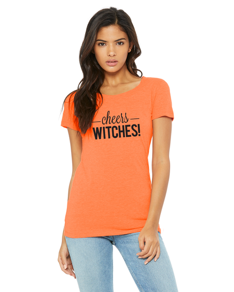 Cheers Witches Ladies Short-Sleeve Triblend T-Shirt