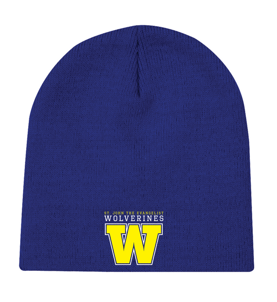 Wolverines Knit Skull Cap with Embroidered Logo