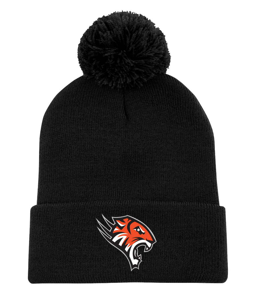 Tiger Cats Pom Pom Toque with Embroidered Logo