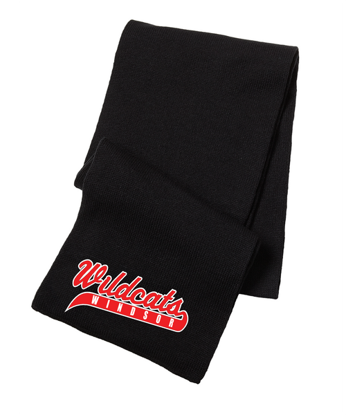 Windsor Wildcats Knit Scarf