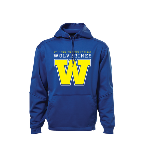 Wolverines Staff Adult Dri-Fit Hoodie with Embroidered Applique Logo  & Personalized Left Sleeve