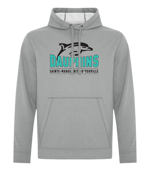 Dauphins Youth Dri-Fit Hoodie with Embroidered Applique Logo