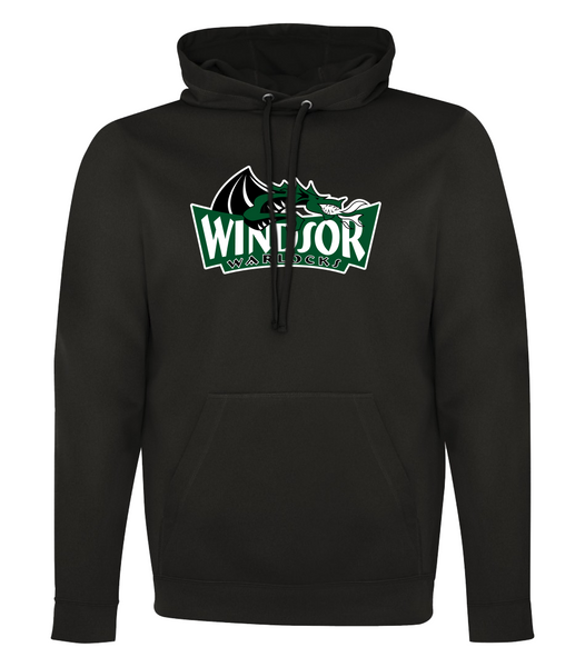 Warlocks Adult Dri-Fit Hoodie with Embroidered Applique & the Number on a Sleeve