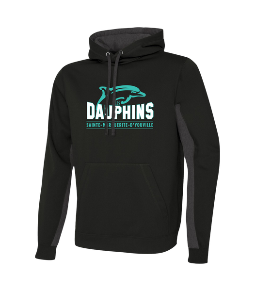 Dauphins Adult Two Toned Sweatshirt with Embroidered Applique Logo