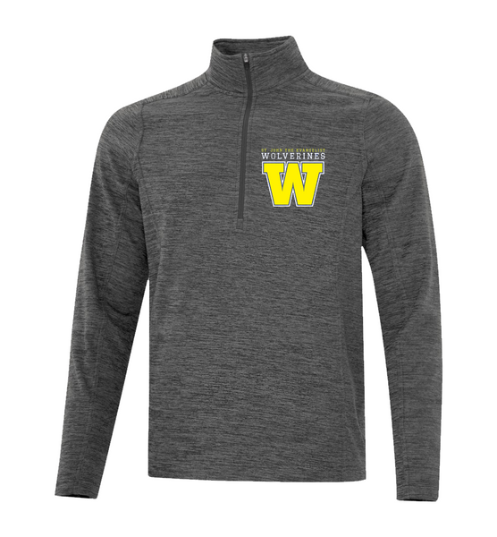 Wolverines Staff Adult 1/2 Zip Sweater with Personalized Left Sleeve
